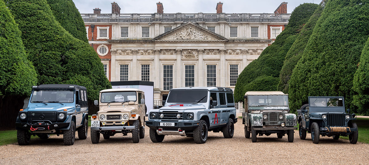 INEOS grenadier all-new 4X4 vehicle on display